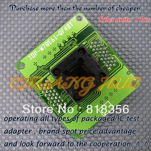 TOP-W78E61-QF48T Programmer Adapter TQFP48 QFP48 IC Test Socket imports of ic test seat tqfp48 burning adapter dil48 tqfp48 1 zif