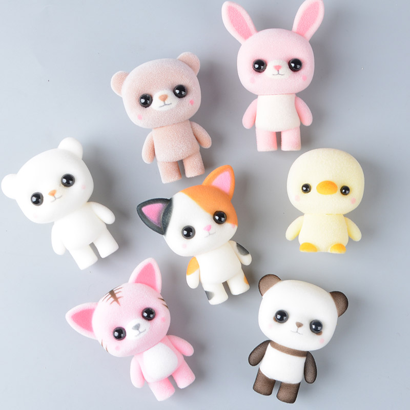 Koteta Toys Doll Gift-Figures Flocking Duck Panda Animals Furry Girls Mini Children Kawaii Pvc