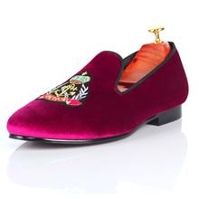 Harpelunde Wedding Shoes 2017 New Arrival Men Dress Shoes Motif Velvet Slippers Size 7-14