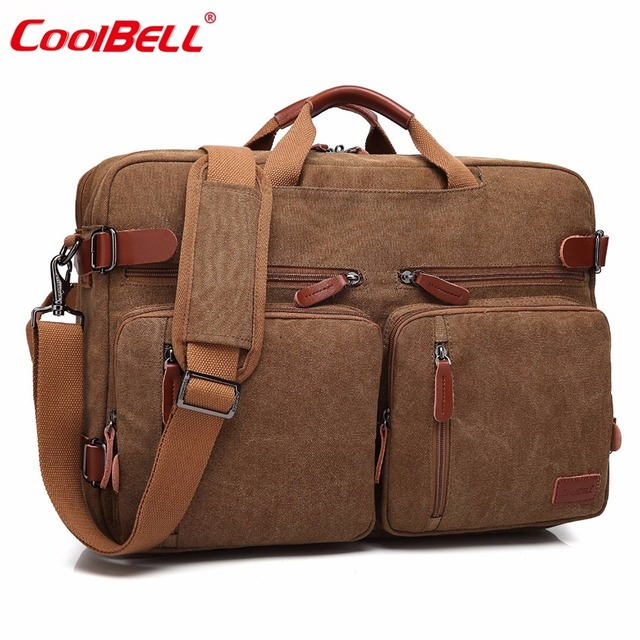 Multifunction 17.3 inch Laptop Shoulder Bag Convertible Backpack For Men Women Travel Rucksack Business Messenger Bag Handbag