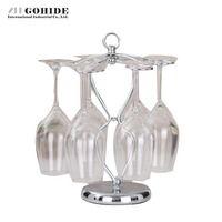 Gohide Wine Rack Home Decoration Red Wine Hanging Cup Holder Cup Holder Goblet Rack Wine Cup Holder Small Bar Table