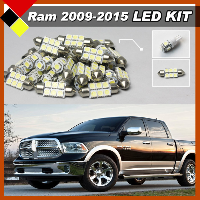 Truck LED Interior Package Kit Lamps White 12V Car Map Dome Trunk License Plate Lights For RAM 1500 2009-2015 daikin ftxk35aw rxk35a