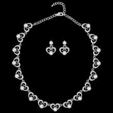 SLBRIDAL Austrian Crystal Rhinestones Alloy Wedding Jewelry Set Bridal Necklace Earring Set Bridesmaids Women Party Jewelry