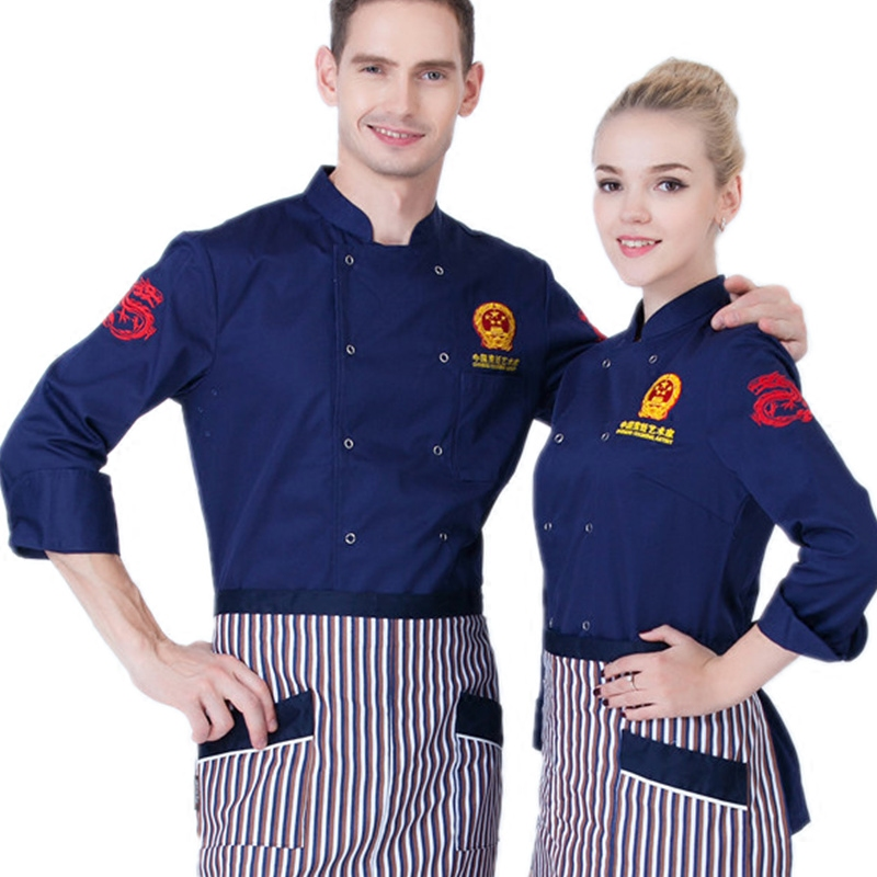 e81fe3f1f60 Custom Chef Clothing New Unisex Hotel Restaurant Kitchen White Chef Jacket Uniforms  Restaurant Uniforms Aprons Work Clothes J004-in Chef Jackets from ...