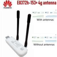 Unlocked New Huawei E8372h 153 4G LTE 150Mbps Wireless USB WiFi Modem with antenna