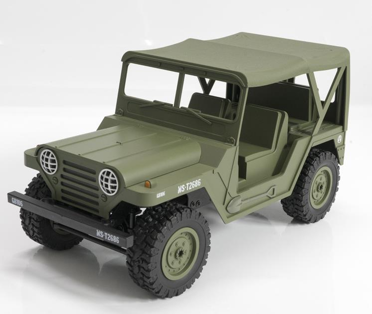 1/14 4wd Fernbedienung 4x4 Off Road Auto Jeep 2,4 Ghz Rc Militär Lkw Elektrische Fahrzeug