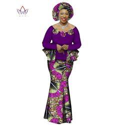 2019 الخريف الأفريقي تنورة مجموعة للنساء Dashiki 2 قطعة مجموعات الملابس الأفريقية أنيقة التقليدي الأفريقي الملابس WY1066