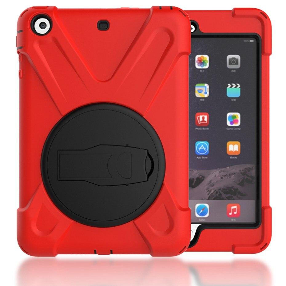 все цены на  Case for iPad mini 1 2 3 hand-held Shock Proof full body cover Handle stand sleeve for ipad mini case capa funda  онлайн