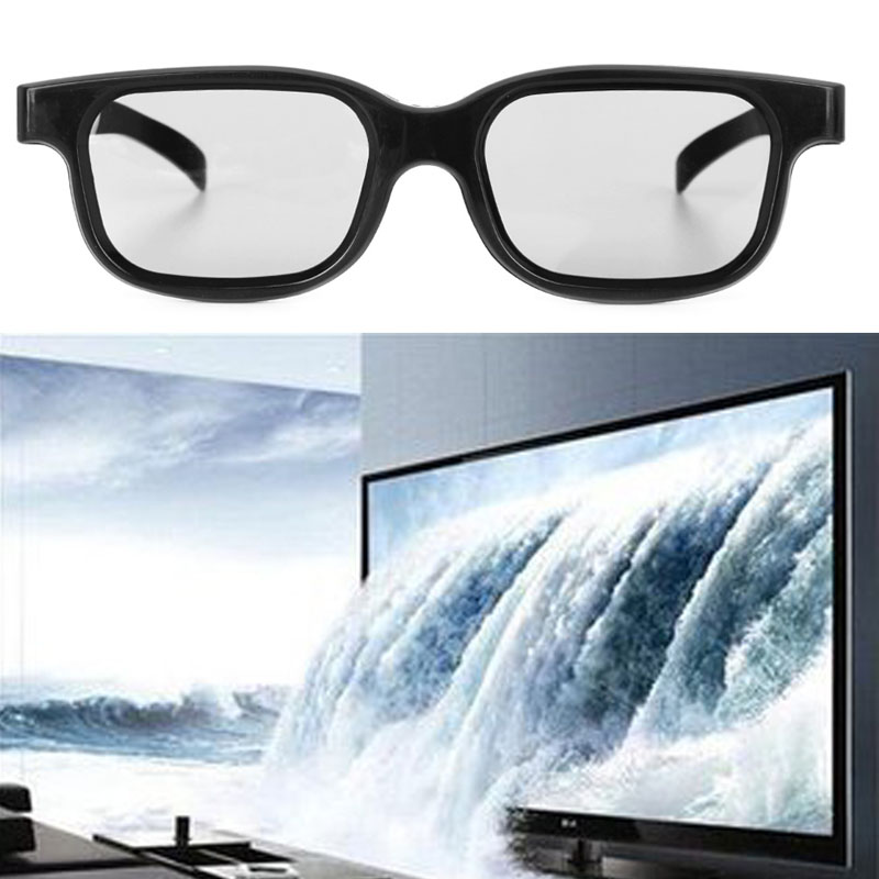 Circular High Quality Polarized Passive 3D Glasses Black
