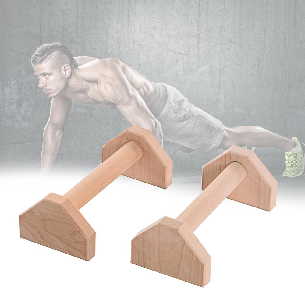 30cm Push-Ups Stands Wooden Single Double Bars Calisthenics Handstand Wooden Push-Ups Double Rod Fitness Equipment image