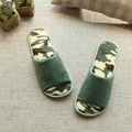 2017 New Fashion Cotton Spring Summer Home  Army Green Slippers Men Indoor\Floor Open-Toed Camouflage Slippers Shoes