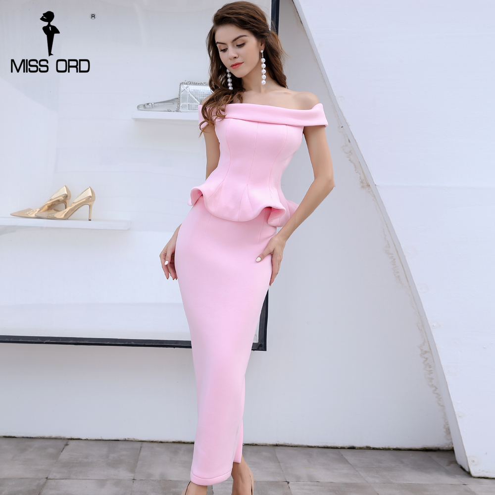 2ee733d9908 Robe Sexy Deux 2019 L épaule Manches Sans Split Couleur pcs Ft8389 Rose De  Missord Outre pFqwqR