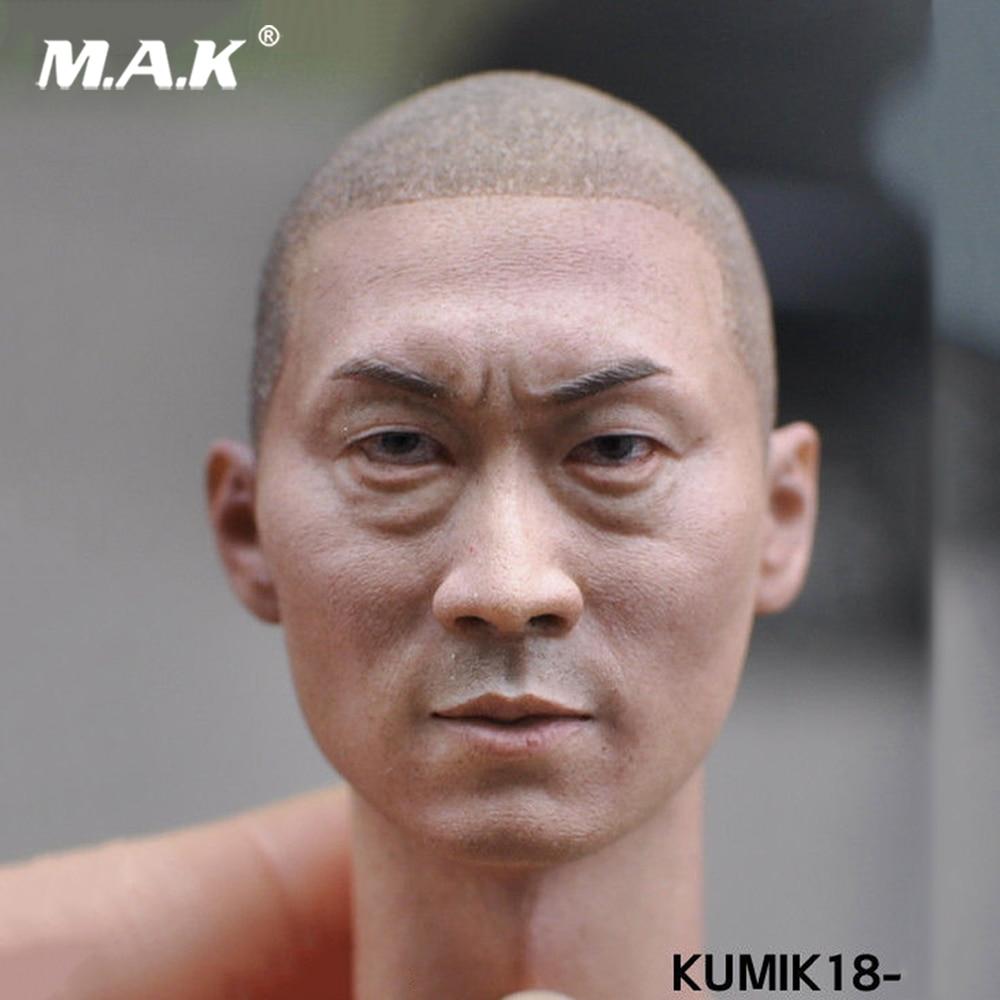 1/6 Head Sculpt Scale Male no hair Head Sculpt KUMIK18-6 star Model Head 1/6 Scale for 12 Action Figure Collection Toys цена