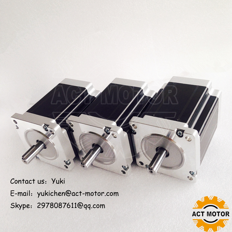 Shipping from China!ACT Motor 3PCS Nema34 StepperMotor 34HS1450D12.7L34J5-5 1140oz-in 114mm 5A 4-Lead 2Phase Engraving Machine shipping from china act motor 1pc nema34 brake motor 34hs5460d14l34j5 s8 1140oz in 150mm 6a 4 lead 2phase engraving machine