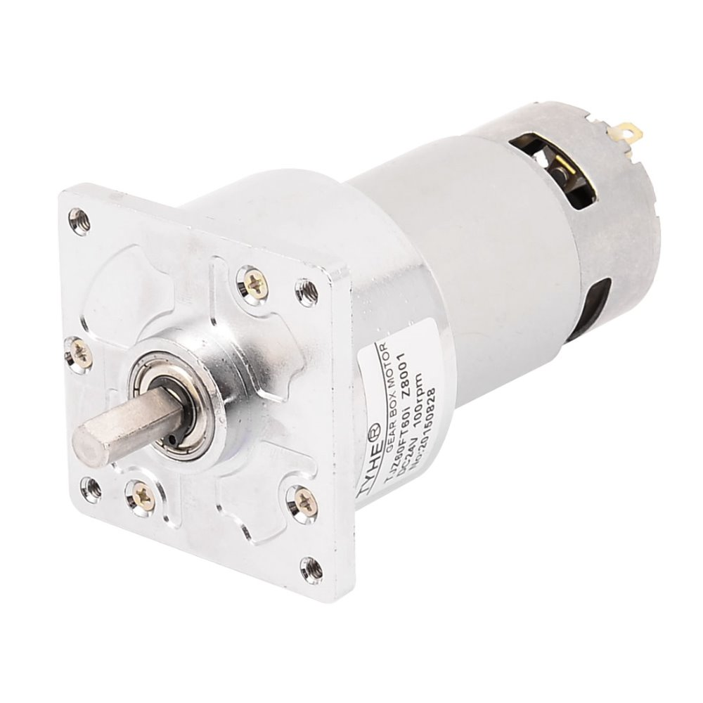 цена на UXCELL DC 24V 100RPM High Torque 8mm Shaft Dia Electric Low Speed Solder Gear Box Motor Hot Sale