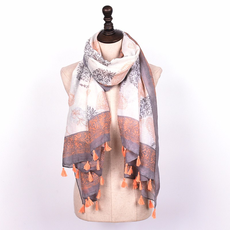 Paisley Pastel Tassel Scarf | Shawls and Wraps | Up to 60% Off Now