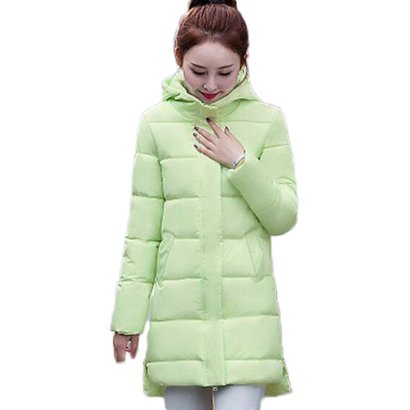 2017 New Winter Coat For Women Hooded Outerwear Parka Clothing Wadded Padded Basic Jacket Female Slim Cotton Coats XT0238 2016 new fashion autumn winter women basic jacket coat female slim hooded brand cotton coats