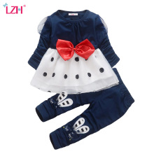 LZH Children Clothes 2018 Autumn Spring Baby Girls Clothes Set T-shirt+Pants 2pcs Outfit Kids Sport Suit For Girls Clothing Sets