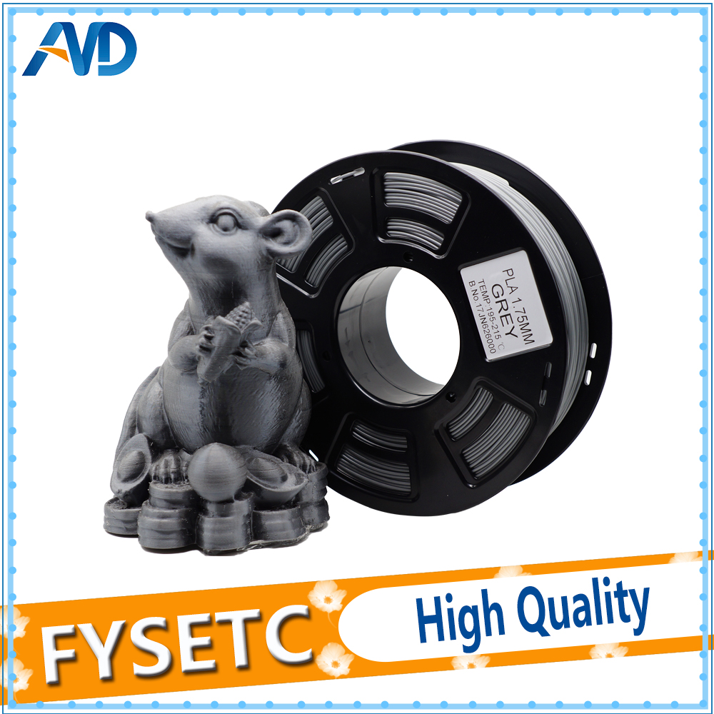 PLA 1.75MM 1kg/2.2lb Filament Materials 1.75 pla Consumables Mouse Grey Color for 3D Printer Extruder Or 3d Pen pla 1 75mm filament 1kg printing materials colorful for 3d printer extruder pen rainbow plastic accessories black white red gray