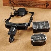 20X Độ Nét Cao Đầu Gắn Kính Lúp Với Đèn LED Magnifier Miễn Phí Vận Tay Đọc Bảo Trì Trang Sức Bội S