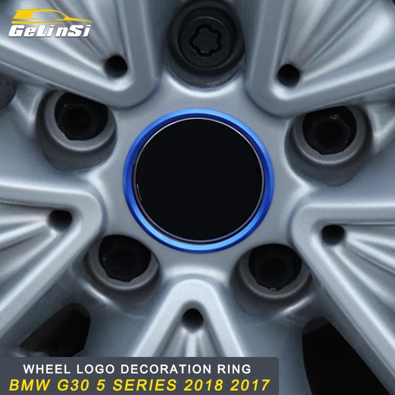 GELINSI roue logo décoration anneau accessoires pour BMW G30 5 série 2018 Auto voiture