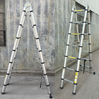 88cm 2x1.9 Thickening Aluminum Retractable Multifunctional Folding Ladder Double Face Telescopic Step Ladder new arrival