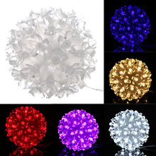 Festival Decoration AC 220V EU Plug 50 Petals Round Ball Shaped LED Lights for Christmas Wedding Party