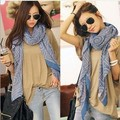 Korean ethnic art Style retro bohemian circle plaid scarves cotton shawls scarvf