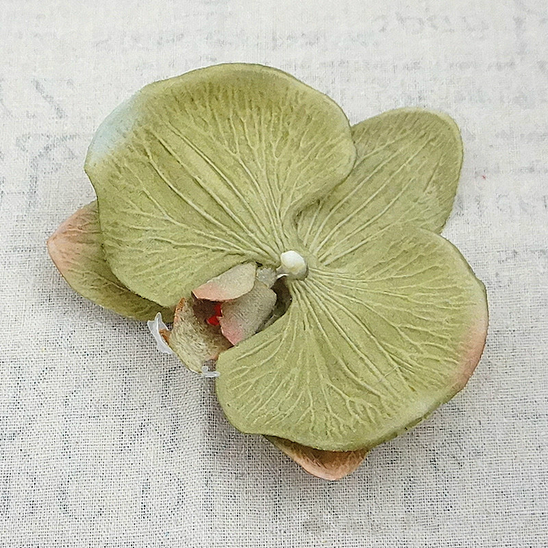 15pc Large Artificial Flowers Silk Gradient Butterfly Orchid Heads Phalaenopsis DIY Wreath Gift Scrapbooking Wedding Decoration in Artificial Dried Flowers from Home Garden