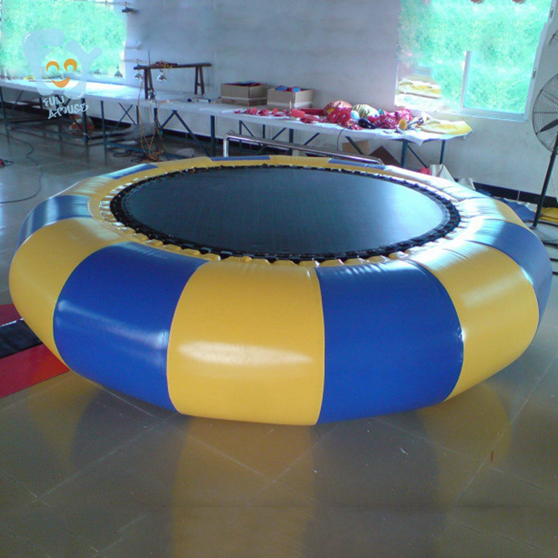 Trampolín inflable de agua Dia 3m trampolín inflable trampolines bungee mar trampolín flotante de China - 4