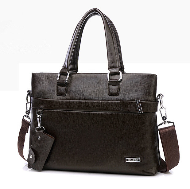 ФОТО Free Shipping High Quality PU Leather Men Messenger Bags Business Casual Bags Famous Designer Shouder Bag