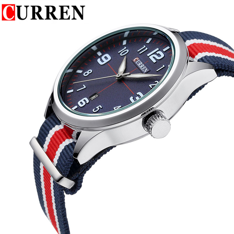 Curren Watches font b Men b font Fashion Sports Watch Luxury Brand Nylon Strap Casual Watch