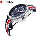 New Curren Watches Men Top Brand Luxury Mens Nylon Strap Wristwatches Men's Quartz Popular Sports Watches relogio masculino 8195