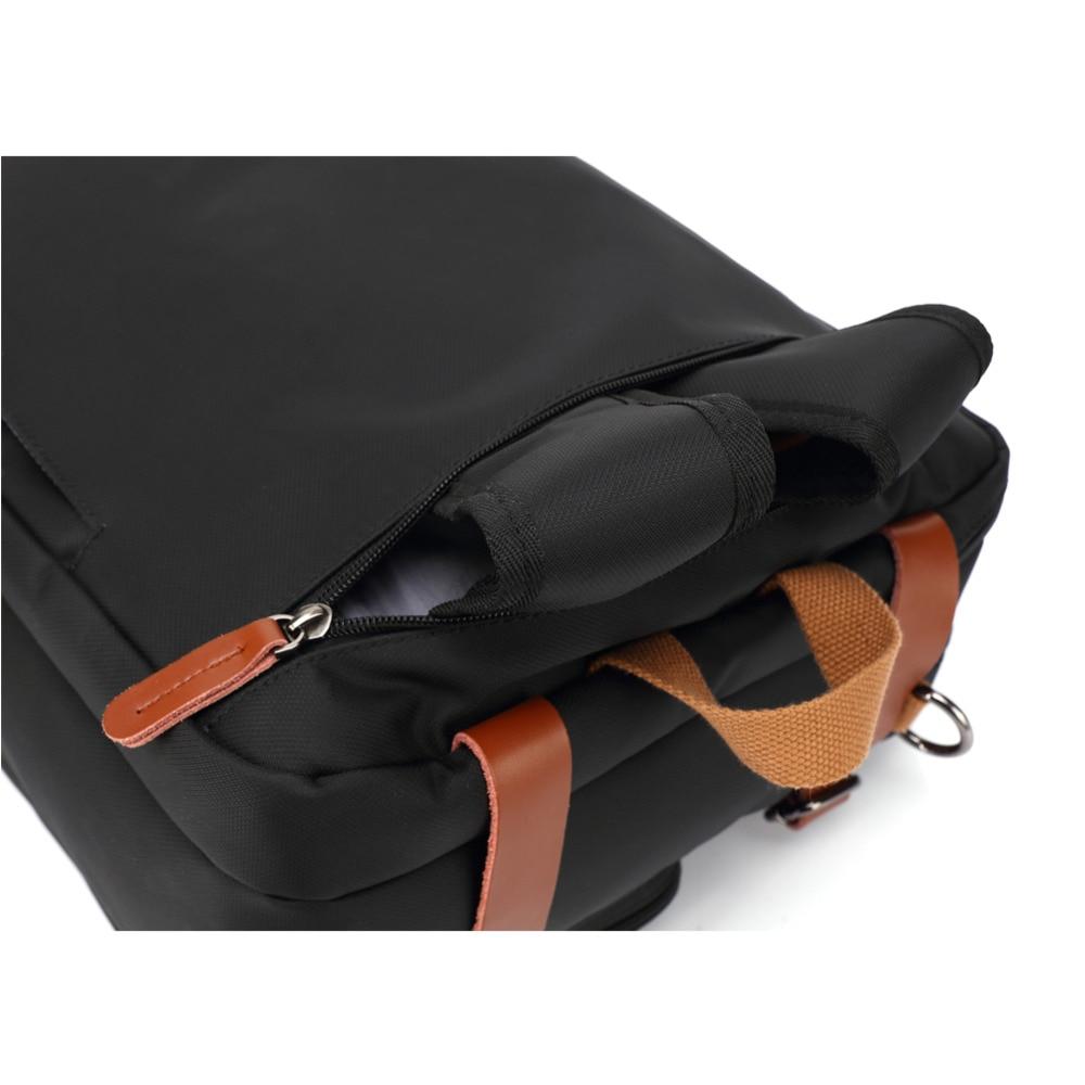 Bolso del negocio maletín mochila Convertible mochila 15 17 17,3 pulgadas portátil mensajero del hombro del ordenador portátil caso - 5