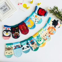 4 Pairs/lot Kawaii Animal Print kids short Socks Cartoon Cotton Baby Boys Girls Soft Socks Cute Fashion Socks Spring Autumn 5 pairs baby girls boys socks character print kids socks for girls clothing brand 100