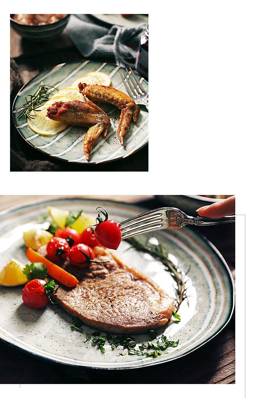 Antowall estilo japonês casa prato bife placa