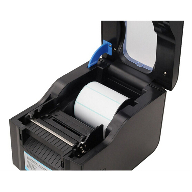 Label Barcode Printer Thermal Receipt or Label Printer 20mm to 80mm Thermal Barcode Printer automatic stripping XP- 370B 5