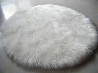 Sheepskin Chair Cover Seat Pad Soft Carpet Hairy Plain Skin Fur Plain Fluffy Area Rugs Bedroom
