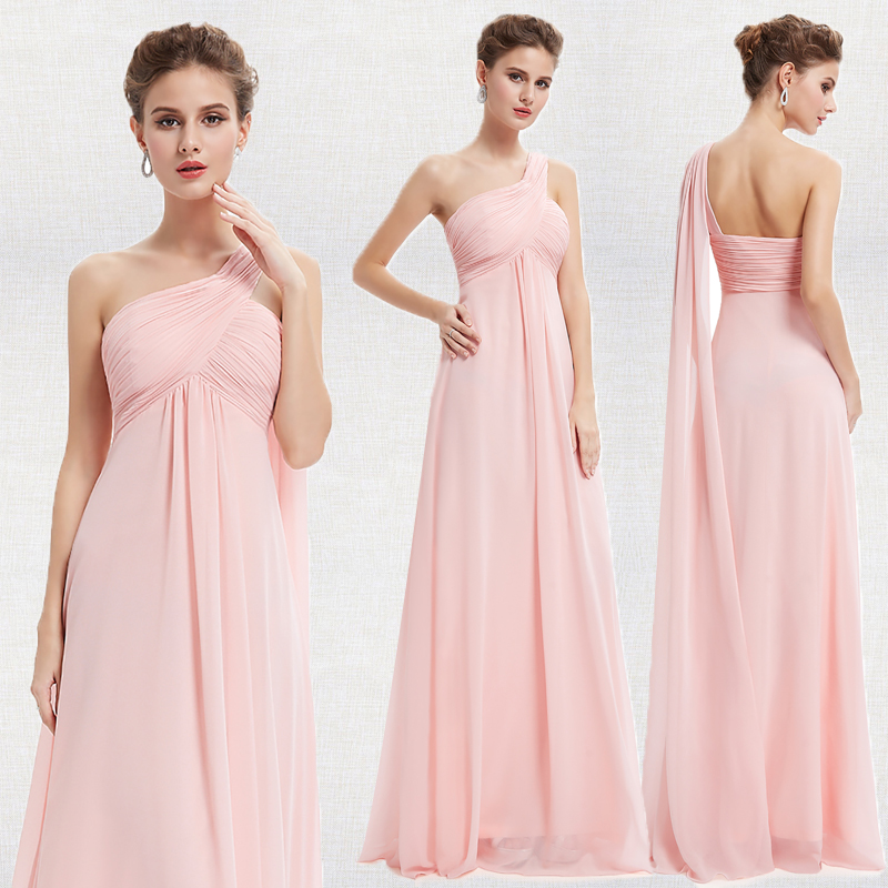 Evening Dresses Ever Pretty EP09816 One Shoulder Ruffles Padded Special Occasion Weddings Events Long 2019 New Evening Dress