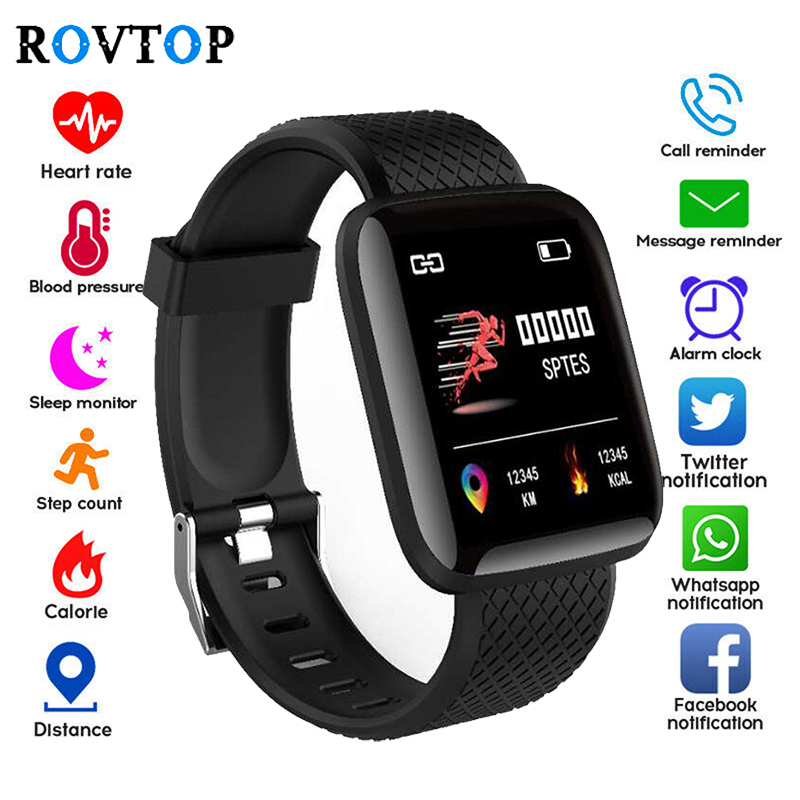 Pedometer Wristband Smart-Watch Blood-Pressure Fitness Sports Android 116-Plus D13 Call-Message-Reminder