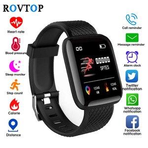 Image 2 - D13 inteligentny zegarek 116 Plus zegarek mierzący uderzenia serca nadgarstek zegarki sportowe inteligentny zespół ciśnienia krwi wodoodporny Smartwatch Android A2