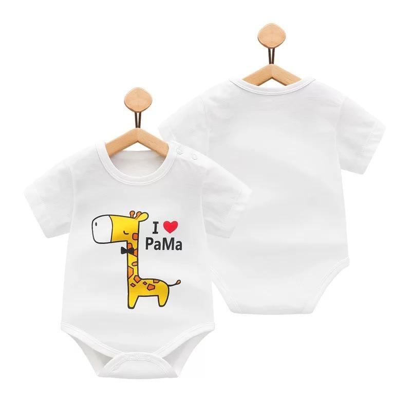 Модные маленькие 2018 Летняя одежда для малышей для новорожденных унисекс для маленьких девочек s, я люблю маму новорожденного для маленьких ...