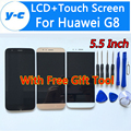 For Huawei G8 LCD Display +Touch Screen 100% New Digitizer Glass Panel Assembly For Huawei G8 1920x1080 5.5inch Phone
