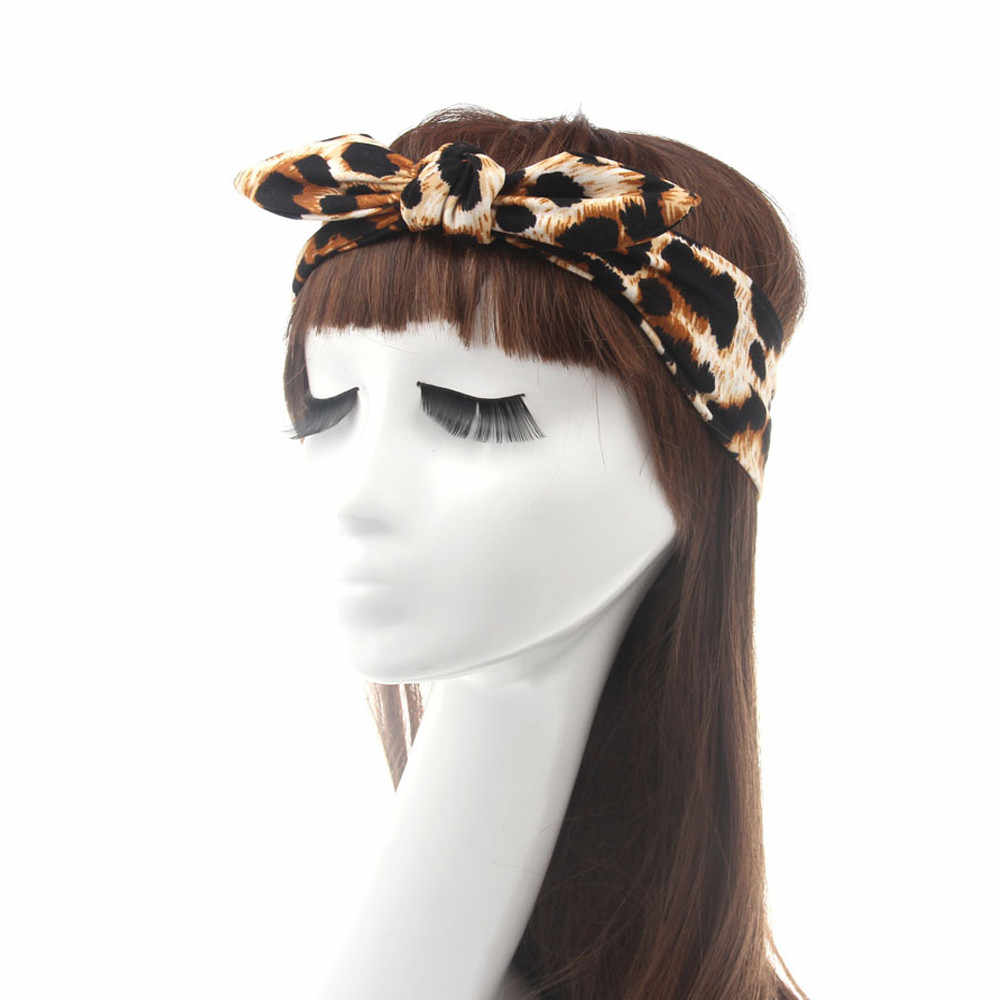 DROPSHIP 2018 New Arrival Hot Summer Fashion Women Headbands Leopard Head Wrap Wide Hair Accessories Top Sell Freeship #J05