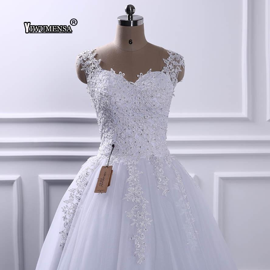 Yiwumensa Mariage Perlen Brautkleider Schatz Robe Novia Elegante Hochzeit Kristalle De Kleid Vestido 2018 HH7wZqr