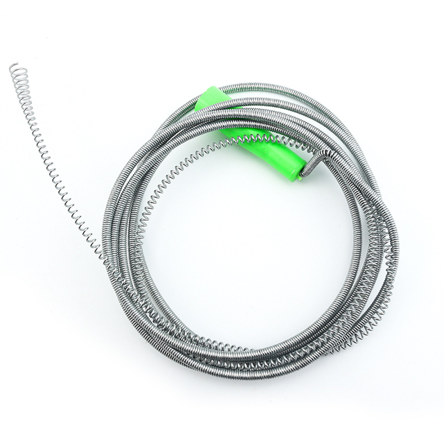 5 meter extension spring drain cleaner wire drain snake compression spring drain pipe cleaner - Drain Pipe Cleaner