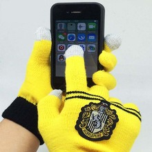 GLV874 Harry Potter COS knitting touch screen magic font b gloves b font Gryffindor fourth school