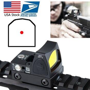 Американский Запас Мини RMR красная точка зрения коллиматор Глок зеркальный прицел подходит 20 мм Weaver Rail для охотничье ружье RL5-0004-2