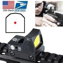 Мини прицел RMR с красной точкой, коллиматор с Glock, прицел для рефлекторного зрения 20 мм, Вивер, рейка для страйкбола, охоты, винтовки, в наличии на складе в США, для страйкбола, для охотничьего ружья винтовки, для