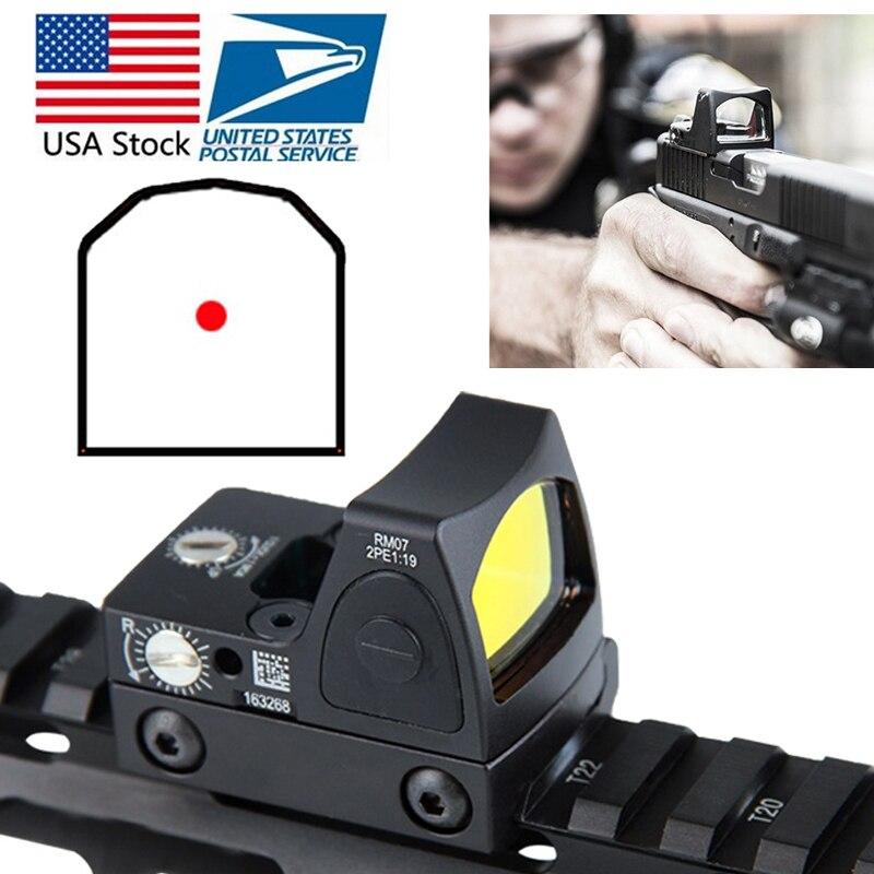 Stock Mini RMR Vista de punto rojo colimador Glock reflejo vista alcance 20mm carril Weaver para Airsoft caza rifle RL5-0004-2